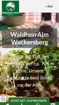 Vorschau der mobilen Webseite www.waldherralm.de, Waldherralm