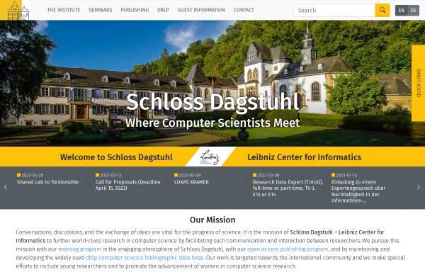 Vorschau von www.dagstuhl.de, Schloß Dagstuhl
