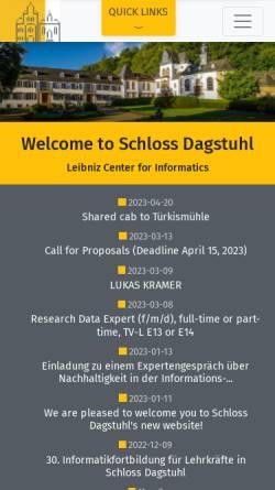 Vorschau der mobilen Webseite www.dagstuhl.de, Schloß Dagstuhl
