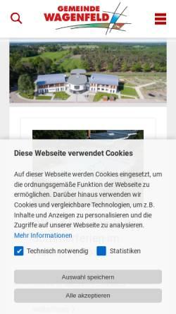 Vorschau der mobilen Webseite www.wagenfeld.de, Wagenfeld
