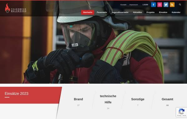 Vorschau von www.feuerwehr-waldbronn.de, Freiwillige Feuerwehr Waldbronn