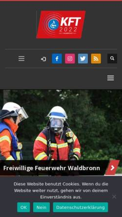 Vorschau der mobilen Webseite www.feuerwehr-waldbronn.de, Freiwillige Feuerwehr Waldbronn