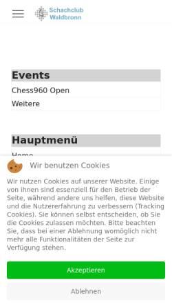Vorschau der mobilen Webseite www.schachclub-waldbronn.de, Schachclub Waldbronn e.V.