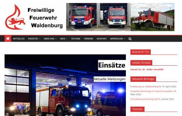 Vorschau von www.feuerwehr-waldenburg.de, Freiwillige Feuerwehr Waldenburg