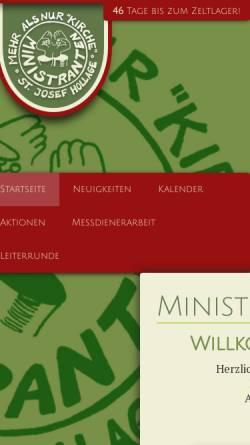 Vorschau der mobilen Webseite www.ministranten-hollage.de, Ministranten St. Josef Hollage