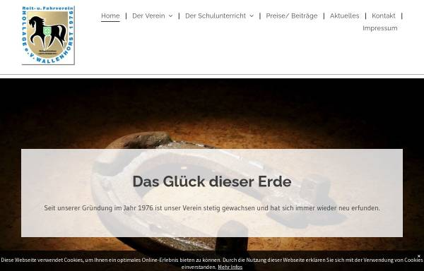 Vorschau von www.ruf-hollage.de, Reit- und Fahrverein Hollage e.V.