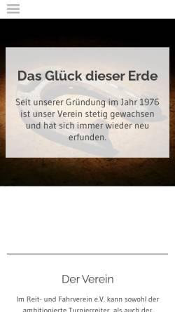 Vorschau der mobilen Webseite www.ruf-hollage.de, Reit- und Fahrverein Hollage e.V.
