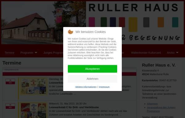 Vorschau von www.rullerhaus.de, Ruller Haus e.V.
