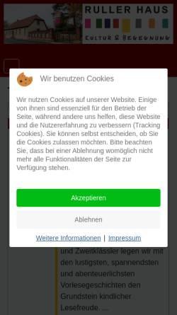 Vorschau der mobilen Webseite www.rullerhaus.de, Ruller Haus e.V.