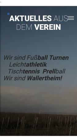 Vorschau der mobilen Webseite turngemeinde-wallertheim.de, Turngemeinde 1890 Wallertheim