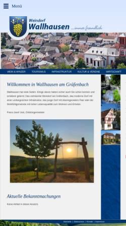 Vorschau der mobilen Webseite www.wallhausen.de, Weindorf Wallhausen