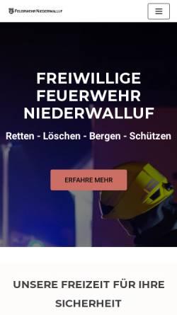 Vorschau der mobilen Webseite www.feuerwehr-niederwalluf.de, Freiwillige Feuerwehr Niederwalluf