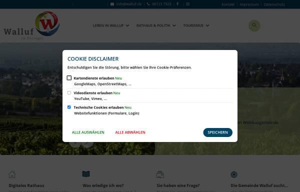 Vorschau von www.walluf.de, Walluf im Rheingau
