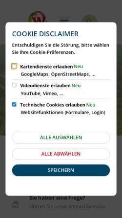 Vorschau der mobilen Webseite www.walluf.de, Walluf im Rheingau