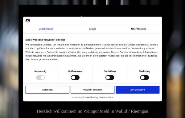 Vorschau von www.weingut-mehl.de, Weingut Mehl
