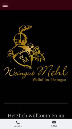 Vorschau der mobilen Webseite www.weingut-mehl.de, Weingut Mehl