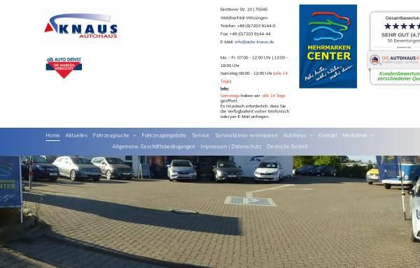Vorschau von www.auto-knaus.de, Autohaus Knaus
