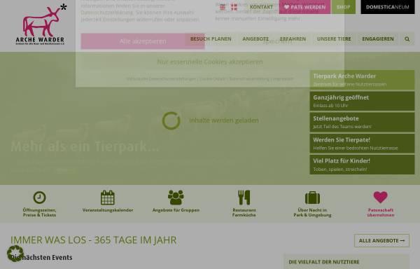 Vorschau von www.arche-warder.de, Arche Warder