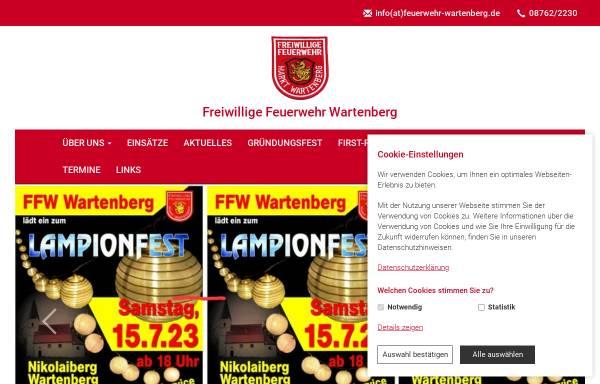 Vorschau von www.feuerwehr-wartenberg.de, Freiwillige Feuerwehr Wartenberg e.V.