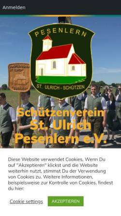 Vorschau der mobilen Webseite www.st-ulrich-pesenlern.de, Schützenverein St. Ulrich Pesenlern e.V.