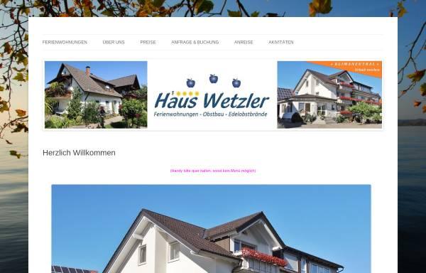Vorschau von www.haus-wetzler.de, Ferienwohnungen Haus Wetzler