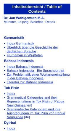 Vorschau der mobilen Webseite www.linguist.de, Linguist