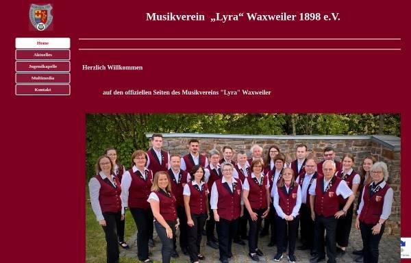 Vorschau von www.mvwaxweiler.de, Musikverein Lyra Waxweiler 1898 e.V