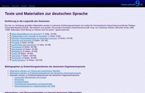 Vorschau von www.schneid9.de, Materialien zum Thema Sprache