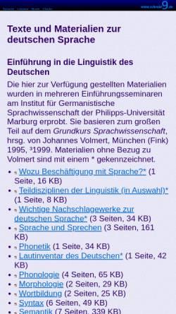 Vorschau der mobilen Webseite www.schneid9.de, Materialien zum Thema Sprache