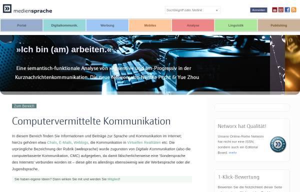 Vorschau von www.mediensprache.net, Sprache@Web: Informationen zur Sprache im Internet