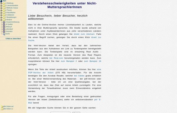 Vorschau von home.datacomm.ch, Verstehensschwierigkeiten unter Nicht-Muttersprachlern