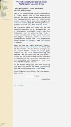 Vorschau der mobilen Webseite home.datacomm.ch, Verstehensschwierigkeiten unter Nicht-Muttersprachlern