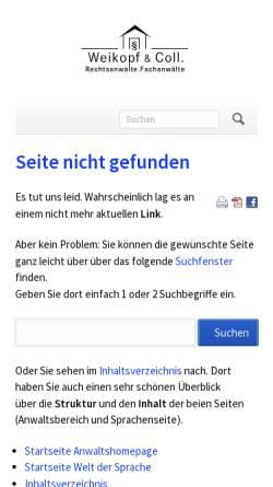 Vorschau der mobilen Webseite www.weikopf.de, Welt der Sprache - Sprachen der Welt