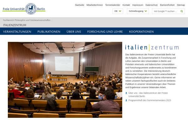 Vorschau von www.fu-berlin.de, Italien   Zentrum