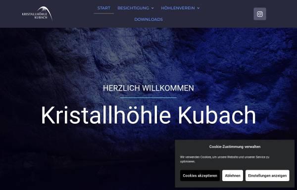 Vorschau von www.kubacherkristallhoehle.de, Kubacher Kristallhöhle