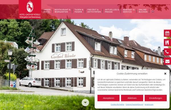 Vorschau von www.roessle-weingarten.de, Hotel Gasthof Rössle