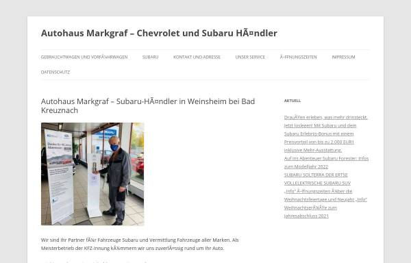 Vorschau von www.autohaus-markgraf.de, Autohaus Markgraf