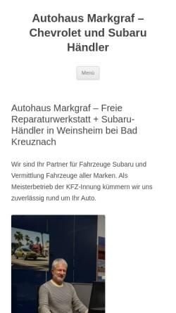 Vorschau der mobilen Webseite www.autohaus-markgraf.de, Autohaus Markgraf