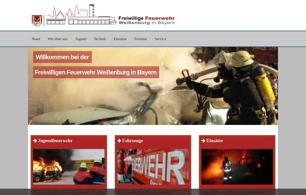 Vorschau von www.feuerwehr-weissenburg.de, Freiwillige Feuerwehr Weißenburg