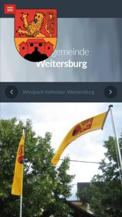 Vorschau der mobilen Webseite www.weitersburg.de, Gemeinde Weitersburg