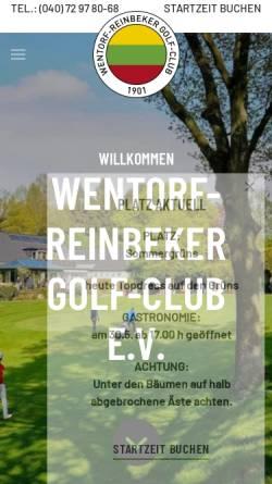 Vorschau der mobilen Webseite www.wrgc.de, Wentorf-Reinbeker Golf-Club e. V.
