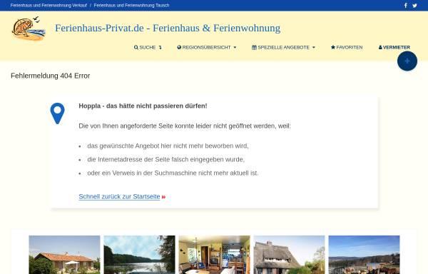 Vorschau von www.ferienhaus-privat.de, Ferienhaus Pufahl