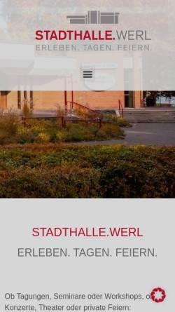 Vorschau der mobilen Webseite www.stadthalle-werl.de, Stadthalle Werl
