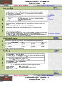 Vorschau der mobilen Webseite www.wo-in-w.de, Ferienwohnung für Nichtraucher in Wernersberg / Pfalz