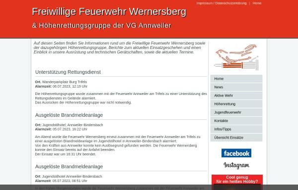 Vorschau von www.feuerwehr-wernersberg.de, Freiwillige Feuerwehr Wernersberg