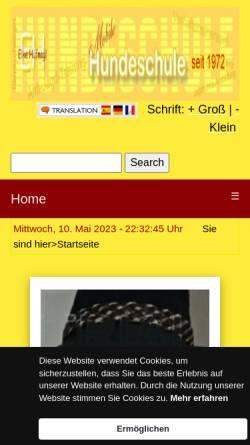 Vorschau der mobilen Webseite www.hundeschule-und-labrador.de, Hundeschule und Therapie Hoher Westerwald