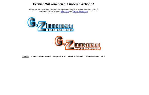Vorschau von www.gz-tore.de, G. Zimmermann Blechtechnik und Tore und Torantriebe