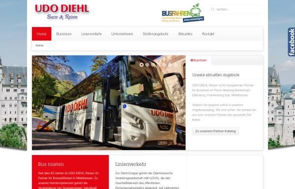 Vorschau von www.udodiehl.de, Udo Diehl Reisen GmbH & Co. KG