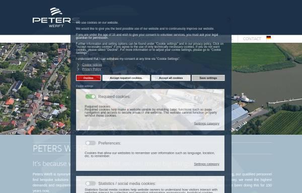 Vorschau von www.peters-ag.de, Peters Schiffbau GmbH