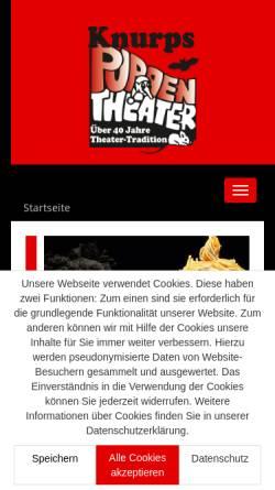 Vorschau der mobilen Webseite www.knurps-puppentheater.de, Knurps Puppentheater